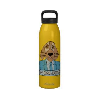 Soy una persona del perro botellas de agua reutilizables