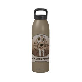 Soy una persona del perro - marrones botella de agua