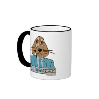 Soy una persona del perro taza de dos colores