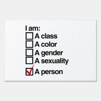 Soy una persona - no-discriminación cartel
