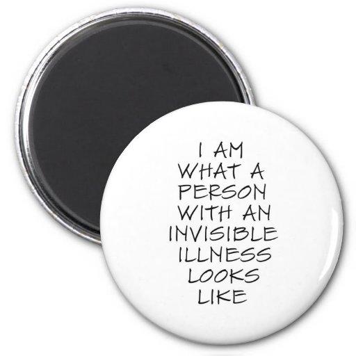 Soy una qué persona con una enfermedad invisible m imán redondo 5 cm