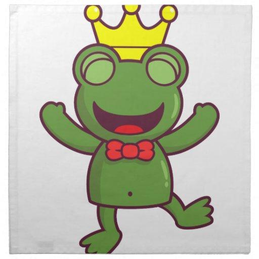 Soy una rana verde servilletas de papel