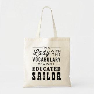 Soy una señora con el vocabulario bolsa tela barata
