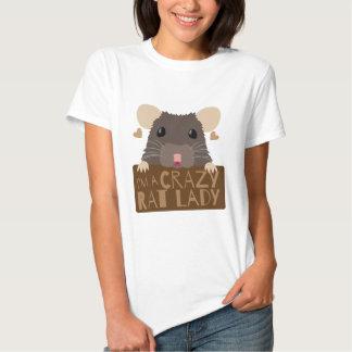 Soy una señora loca de la rata camisas