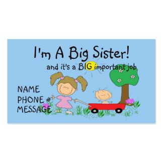Soy una tarjeta de visita de hermana GRANDE
