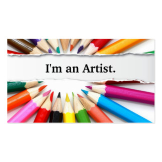 Soy una tarjeta de visita de los lápices del color