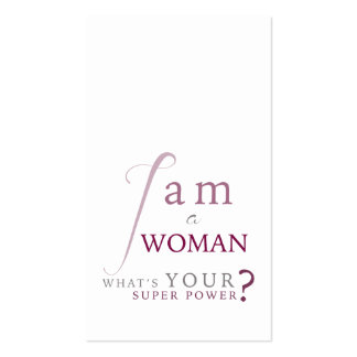 Soy una tarjeta del psicólogo de la mujer tarjetas de visita