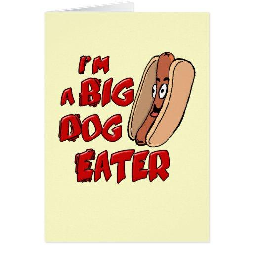 Soy una tarjeta grande del comedor del perro