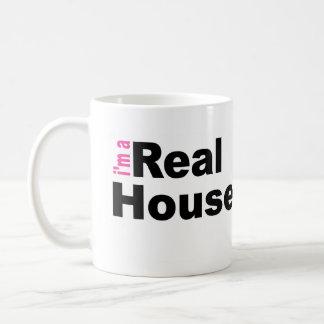 Soy una taza de café real del ama de casa