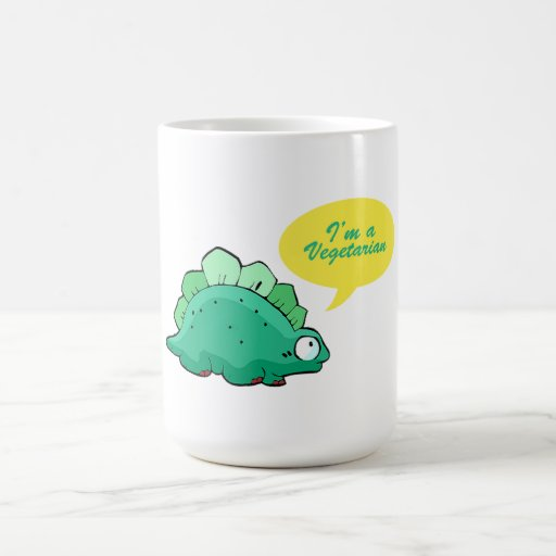 """Soy"" una taza vegetariana del dinosaurio"