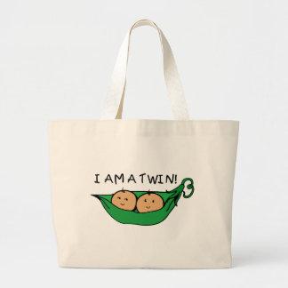 Soy una vaina gemela bolsa de mano