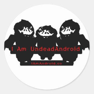 Soy UndeadAndroid Pegatina Redonda