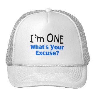 Soy UNO cuál es su excusa (azul) Gorros