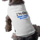 Soy UNO cuál es su excusa (azul) Ropa Perro