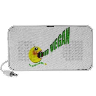 Soy vegano pero no tengo gusto de gritar sobre él iPod altavoz