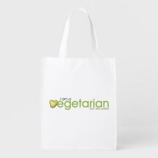 Soy vegetariano - bolso reutilizable bolsa reutilizable