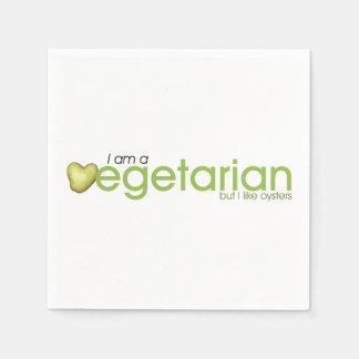 Soy vegetariano - las servilletas de papel