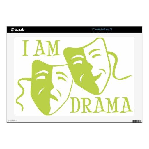Soy verde lima del drama 43,2cm portátil calcomanías