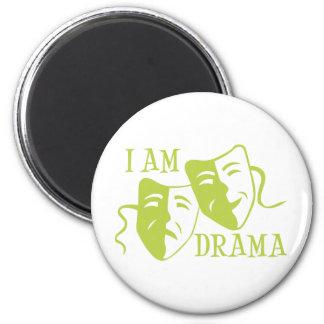 Soy verde lima del drama imán redondo 5 cm