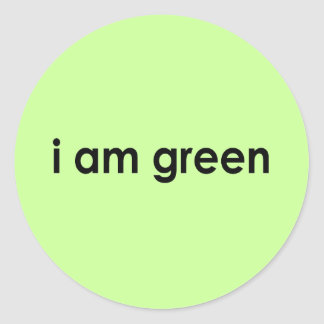 soy verde - etiquetas redondas