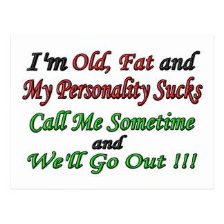 Soy viejo grasa y mi personalidad chupa postal