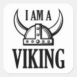 Soy Viking Calcomanía Cuadradas
