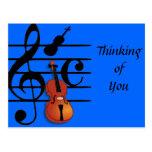 Soy Violin_ Tarjeta Postal