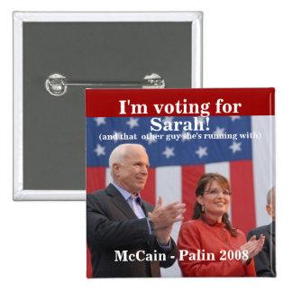¡Soy, votando por, Sarah! , (y ése… - Modificado p Pin Cuadrado