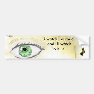 Soy watchin sobre usted pegatina para el parachoqu etiqueta de parachoque