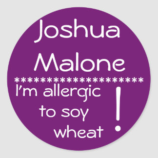 Soy Wheat Allergy Label
