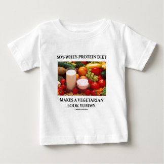 Soy-Whey-Protein Diet Makes Vegetarian Look Yummy Baby T-Shirt
