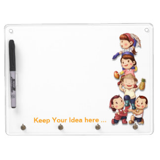 Soya Mixed Meat Keychain holder and Pen (horizonta Dry Erase Board With Keychain Holder