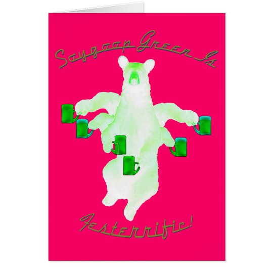 Soygoop Green Is Festerrific! Card