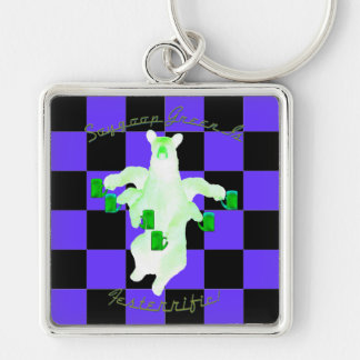 Soygoop Green Is Festerrific! Now King Me! Keychain