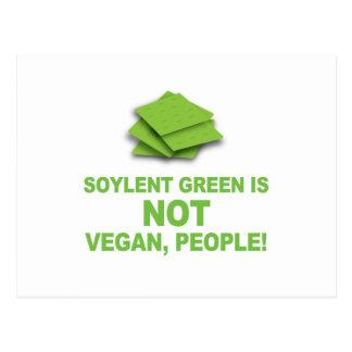 Soylent Green is NOT Vegan, People! Postcard