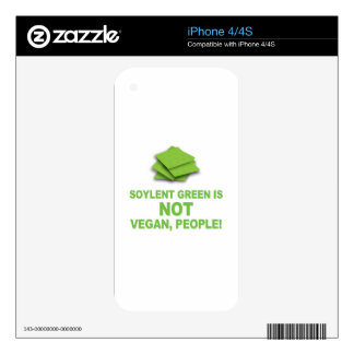 Soylent Green is NOT Vegan, People! Skin For iPhone 4