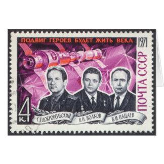 Soyuz 11 in Memoriam Card