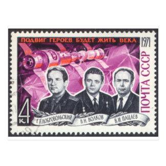 Soyuz 11 in Memoriam Postcard