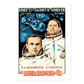 Soyuz 27 tarjeta postal