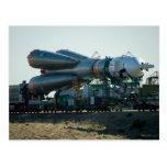 Soyuz al lanzamiento tarjetas postales