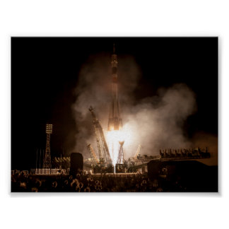 Soyuz Launch Poster