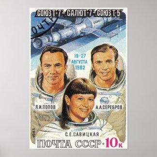 Soyuz T-7 Poster
