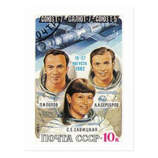Soyuz T-7 Post Card