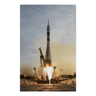 Soyuz TMA-5 launch Poster Spaceship