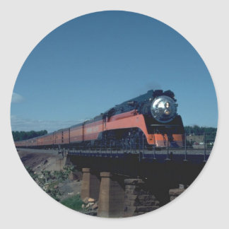 "SP ""Daylight"" train, led by 4-8-4 Classic Round Sticker"