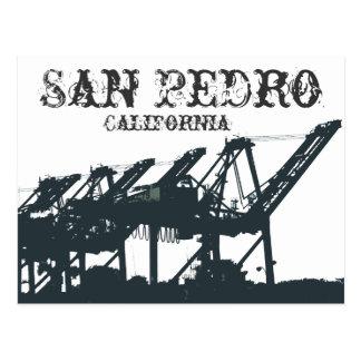 SP Harbor Cranes Postcard