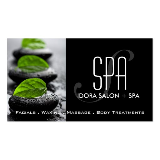 Spa and Massage Business Card Template (front side)