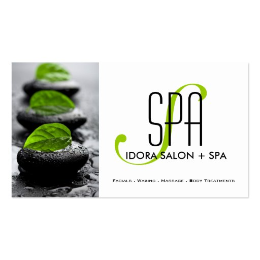 Spa and massage business card template zazzle for Massage business card templates