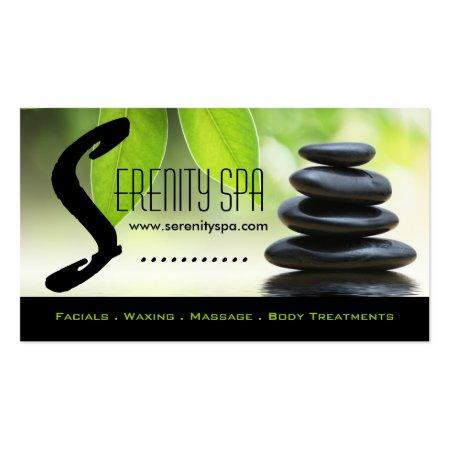 Green Harmony Symbol Gray Holistic Health Business Cards