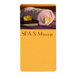 SPA and massage Label